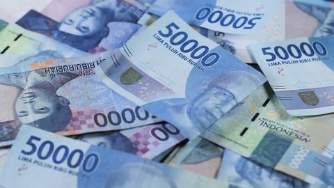 Rupiah. Indonesian currency is nominal fifty thousand video