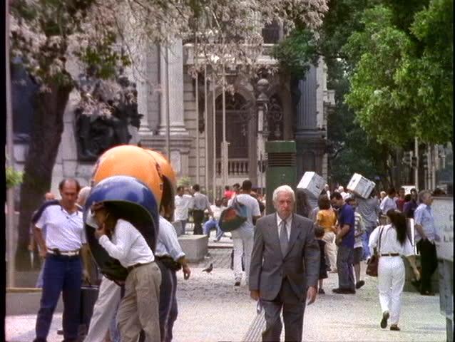 BRAZIL, 1998, Rio de Janerio, downtown, business district, business people