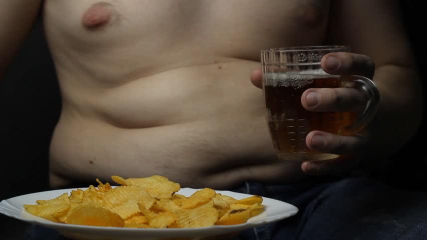 Naked man eats, masterbating in the locker room