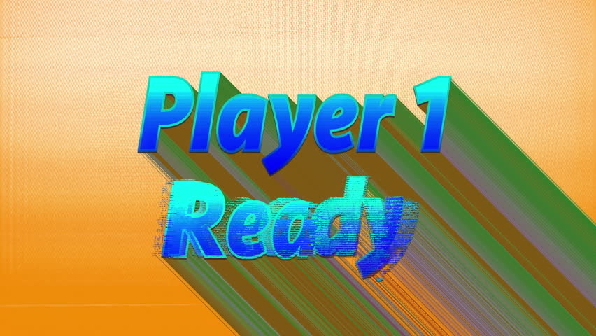 Player 1 ready words from retro computer arcade game   Shutterstock HD Video #1010531507