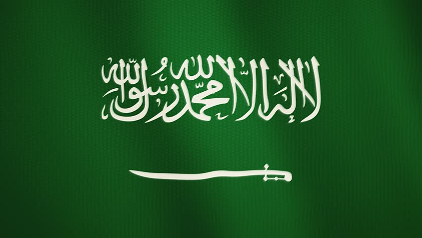 Saudi Arabia flag waving animation. Full Screen. Symbol of the country. | Shutterstock HD Video #1010549087