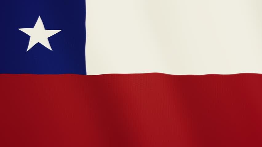 Chile flag waving animation. Full Screen. Symbol of the country.