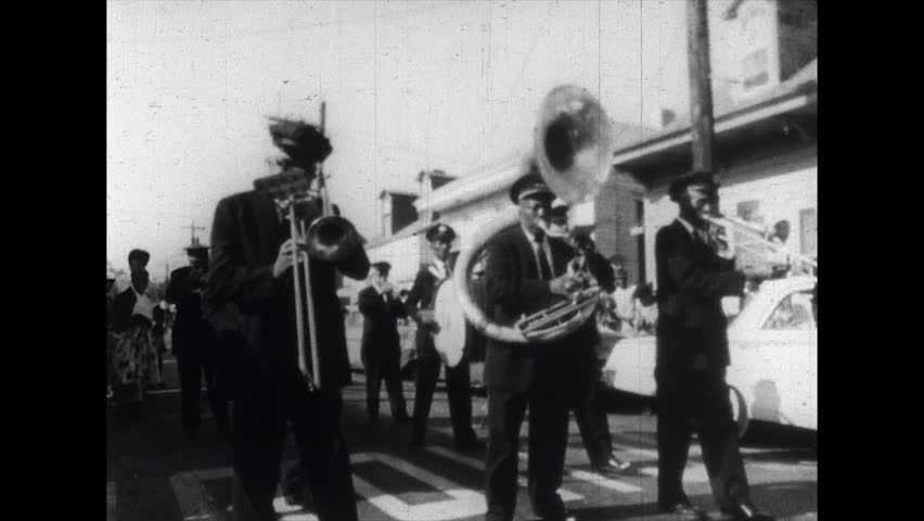 1960s: Marching Band Plays Music Stock Footage Video (100% Royalty-free)  1010609237 | Shutterstock