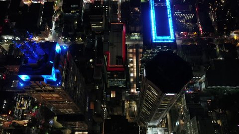Aerial Australia Melbourne April 2018 Night 30mm 4K Prores  Aerial video of downtown Melbourne at night.