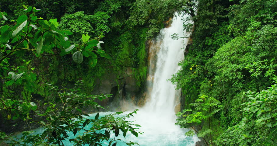Rio Celeste, Celestial blue waterfall and Tenorio volcano national park, Costa Rica