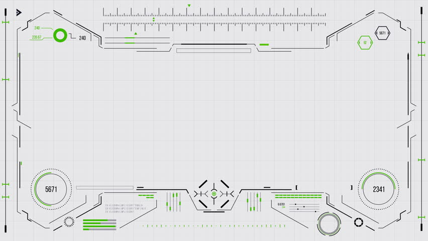 Futuristic user interface with HUD and infographic elements. Looped motion virtual technology background. Intelligent head-up display dashboard for business, games, motion design, web and app. | Shutterstock HD Video #1010893127