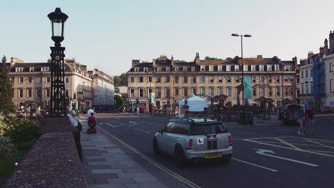 BATH - May 5: City of Bath, Somerset, Georgian Architecture on May 5th 2018 in Bath England.
