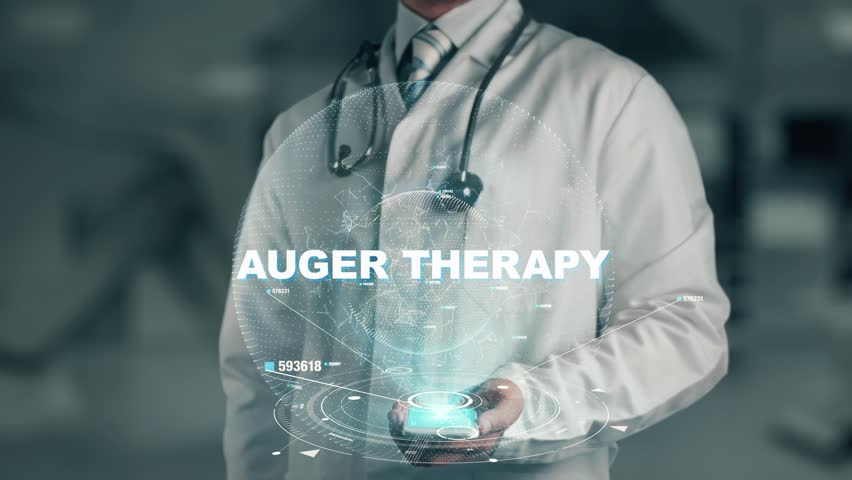 Doctor holding in hand Auger Therapy