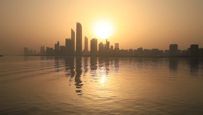 Sunrise in Abu Dhabi, United Arab Emirates  | Shutterstock HD Video #1010977847