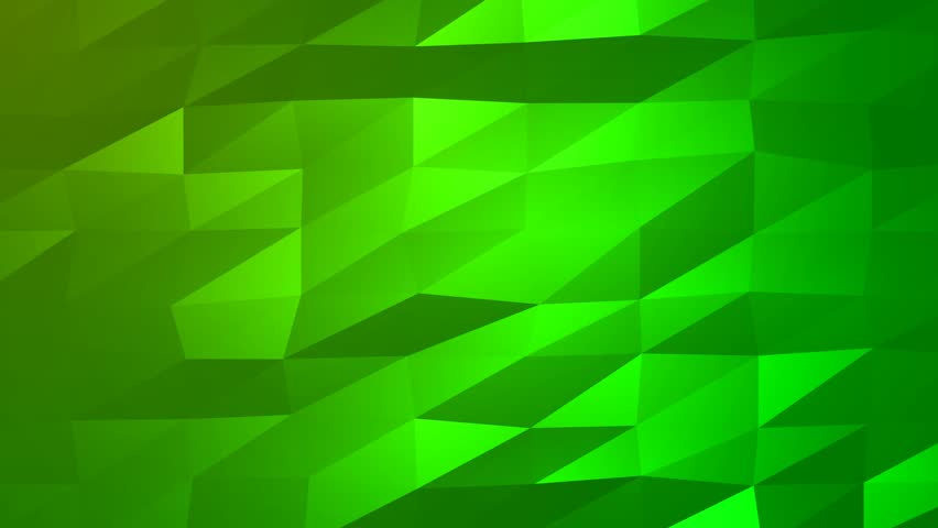 loopable abstract green low poly stock footage video  100