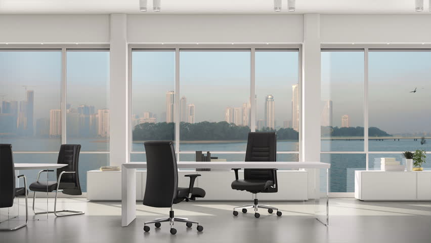 Empty Modern Office Island And Stock Footage Video 100 Royalty