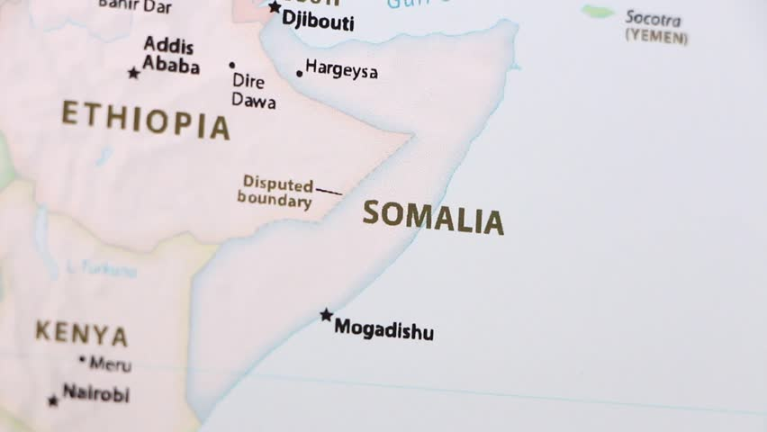 Somalia On A Political Map Stock Footage Video 100 Royalty Free