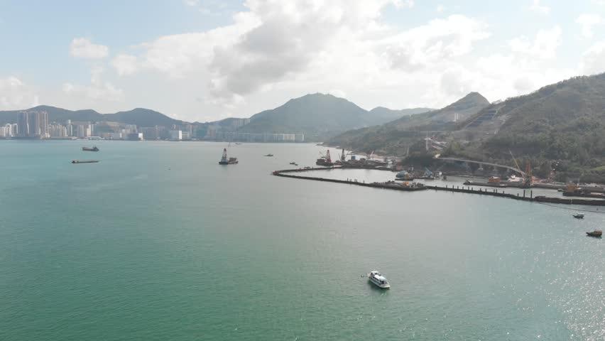 Hong Kong TSEUNG KWAN O water front | Shutterstock HD Video #1011248327