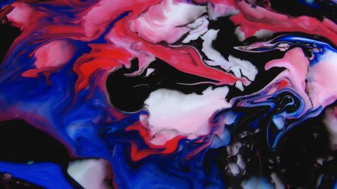 1920x1080 25 Fps. Very Nice Abstract Colors Design Colorful Swirl Texture Background Marbling Video.