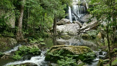 waterfall on the top of Phu Kradueng National Park  1200 msl, Loei province, Thailand