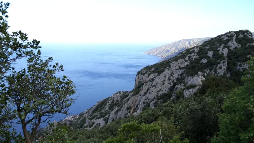 View from the top of Mount Athos