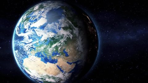 Earth Zoom In Zoom Out Moscow Russia