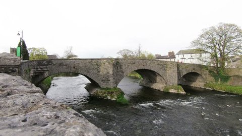 River Kent.  The River Kent flows under Nether Bridge in Kendal, Cumbria, northern England.