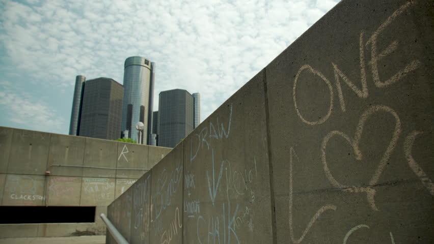 One Love Sidewalk Chalk Pan Shot