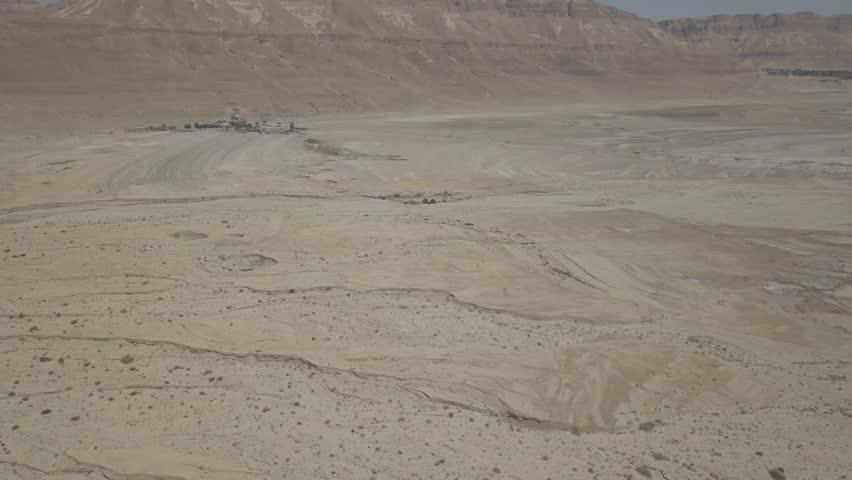 Dead sea desert 4k aerial view ungraded flat | Shutterstock HD Video #1011483167