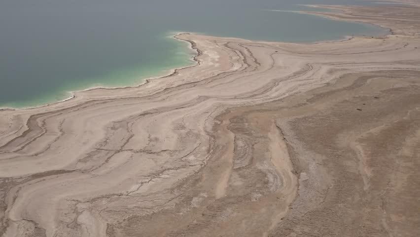 Dead sea desert 4k aerial view ungraded flat | Shutterstock HD Video #1011483197