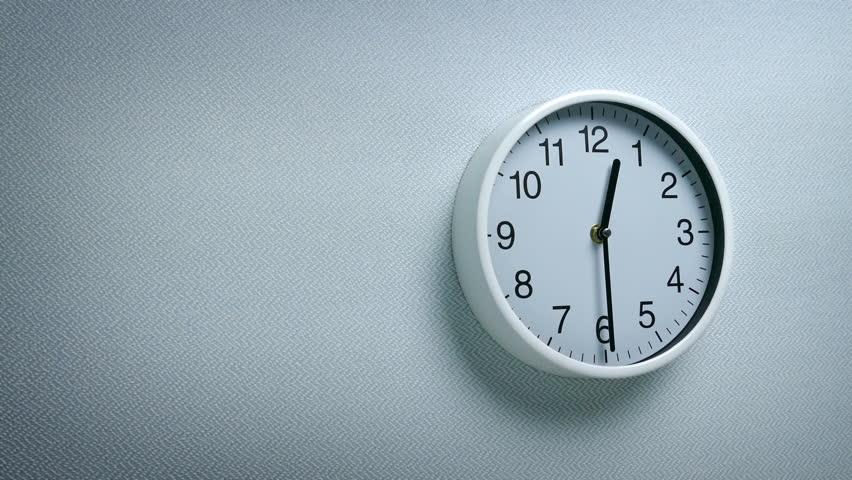 12.30 Clock On Wall   Shutterstock HD Video #1011494387