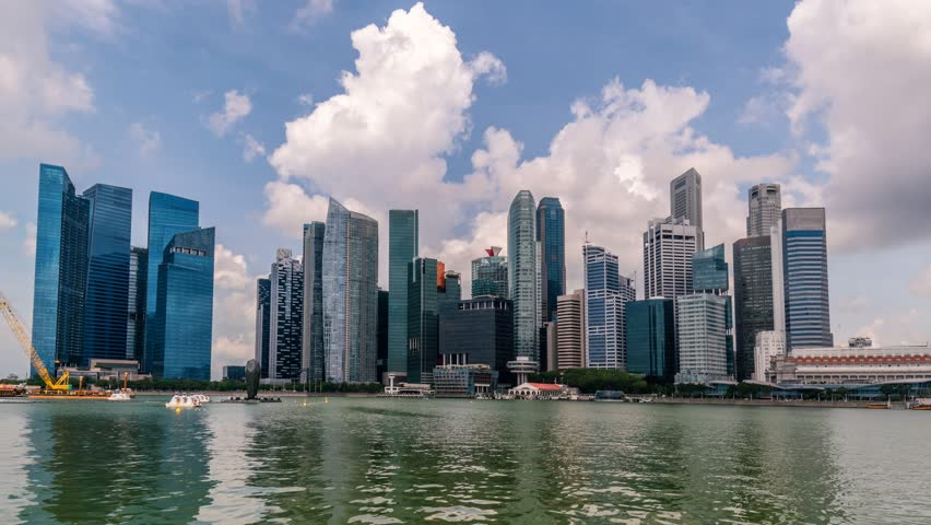Panoramic View Timelapse at Singapore city at 8K resolution 7680X4320