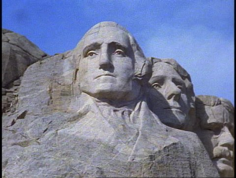 MT. RUSHMORE, 1999, Mount Rushmore, front view, close up George Washington