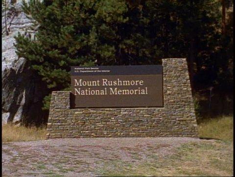 MT. RUSHMORE, 1999, Mount Rushmore, sign