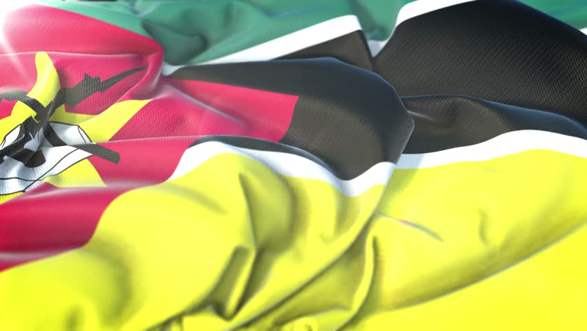 Free Mozambique Flag 4K Motion Loop Stock Video