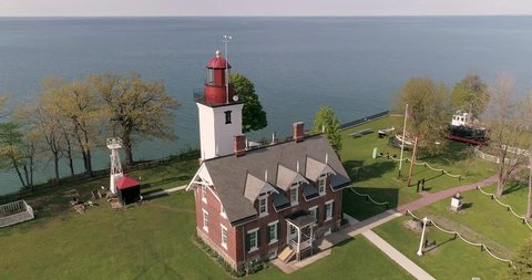 Historic lighthouse in Dunkirk, New York.