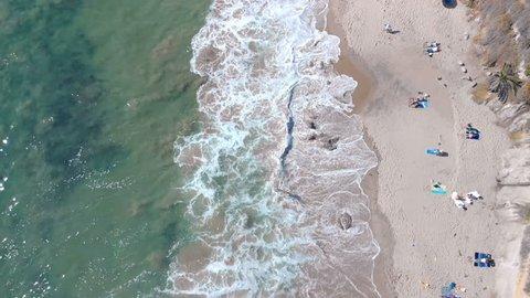 Aerial Top View of Laguna Beach California USA