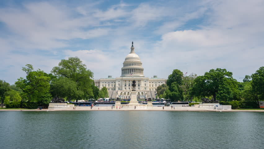 4k hyperlapse video of United States Capitol