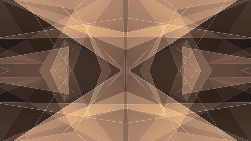 Abstract symmetrical YELLOW poligon shape net cloud animation background new quality dynamic technology motion colorful video footage | Shutterstock HD Video #1011906797