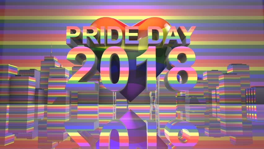 Pride Day 2018 LGBTQIA Gay Pride LGBT Mardi Gras graphic title 3D render. The letters LGBT & LGBTQIA refer to lesbian, gay, bisexual, transgender, queer or questioning, intersex, and asexual or allied