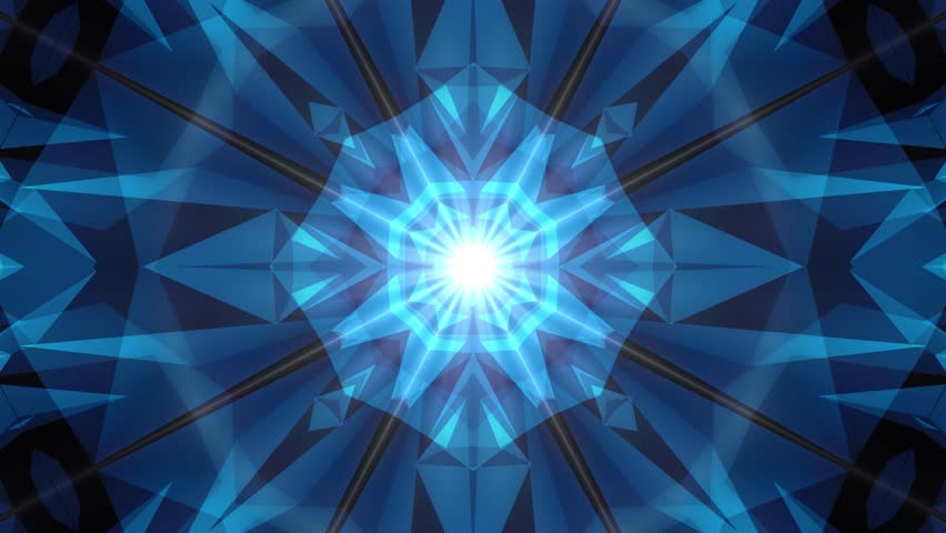 Abstract symmetrical BLUE poligon shape net shiny cloud animation background new quality dynamic technology motion colorful video footage | Shutterstock HD Video #1011957257