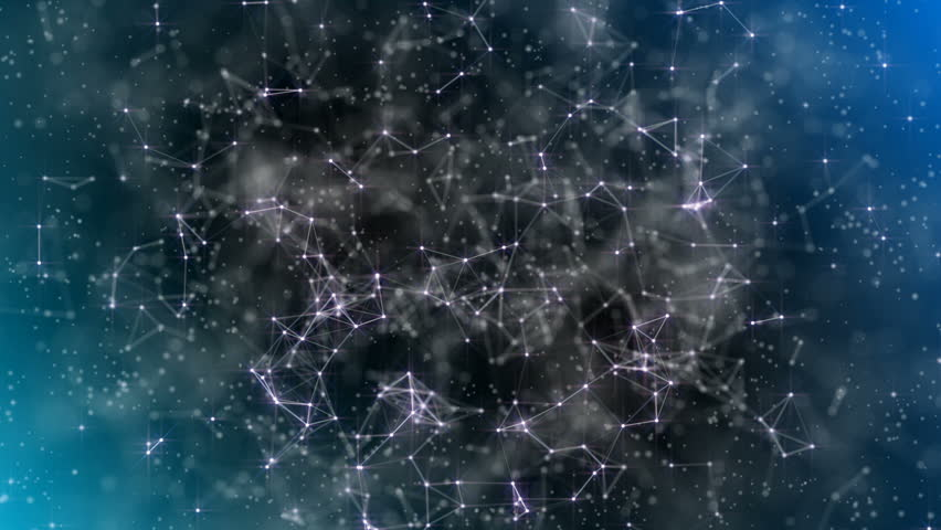 Digital Galaxy. Information Systems. Pink glow. A multicolored background. Work of systems. Connection of shining elements. Place for text. Business futuristic background. Seamless loop.   Shutterstock HD Video #1011965447