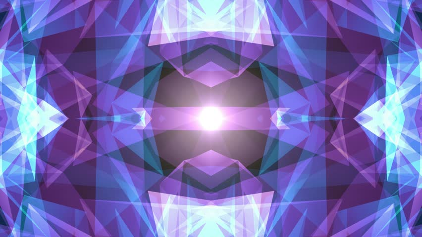 abstract symmetrical BLUE PURPLE polygon shape net shiny cloud animation background new quality dynamic technology motion colorful video footage