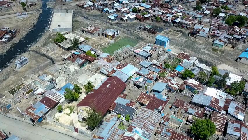 Overhead view of Port au Prince