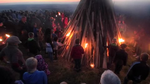 JUSI,Germany,2017,june 21,every year on the day of the solstice,a big wood fire is made  by the people and the celebration starts at sunset,Swabian Alb