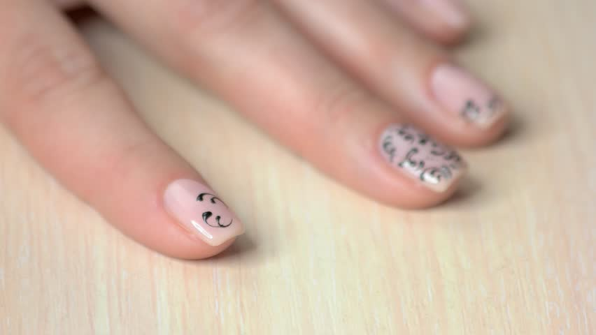 Stock Video Of Nail Design Manicure Nail Paint 1009746113