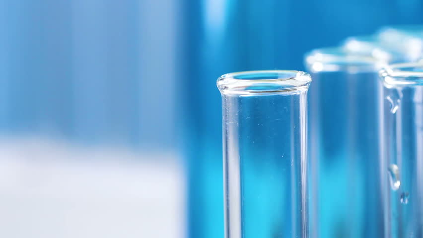 Hand take test tube in laboratory. | Shutterstock HD Video #1012150367