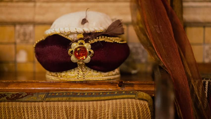 Turban as decoration in a Tatar-Turkish restaurant