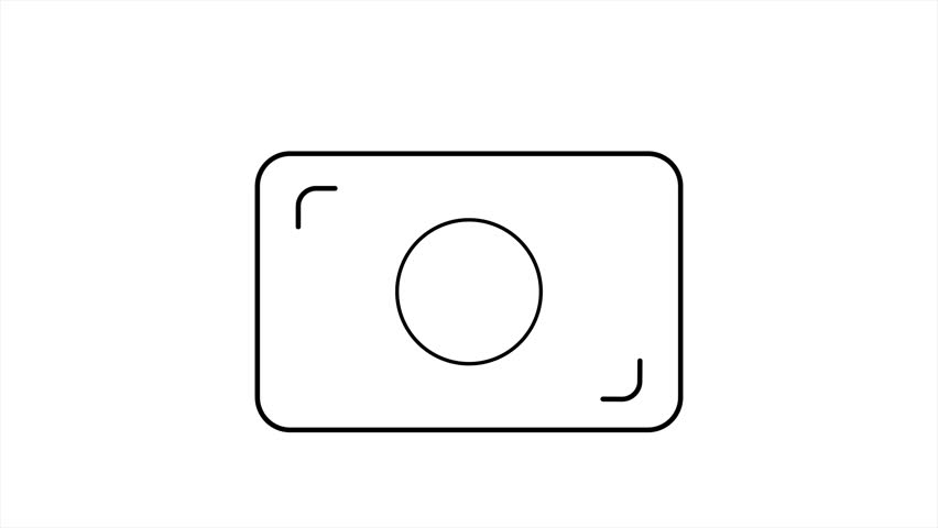 Animation contour camera with picking effect. Video