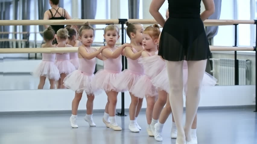 db671406584 Group of Little Ballet Dancers Stock Footage Video (100% Royalty ...