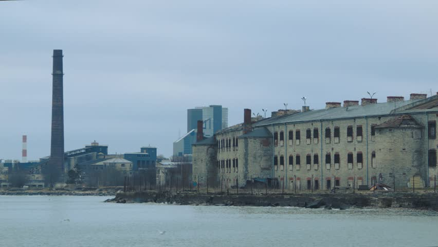 Battery Prison. 1820 as a fortress to protect the city from the sea-born attacks. Turned into a notorious KGB prison in 1920.  Baltic Sea. Tallinn.
