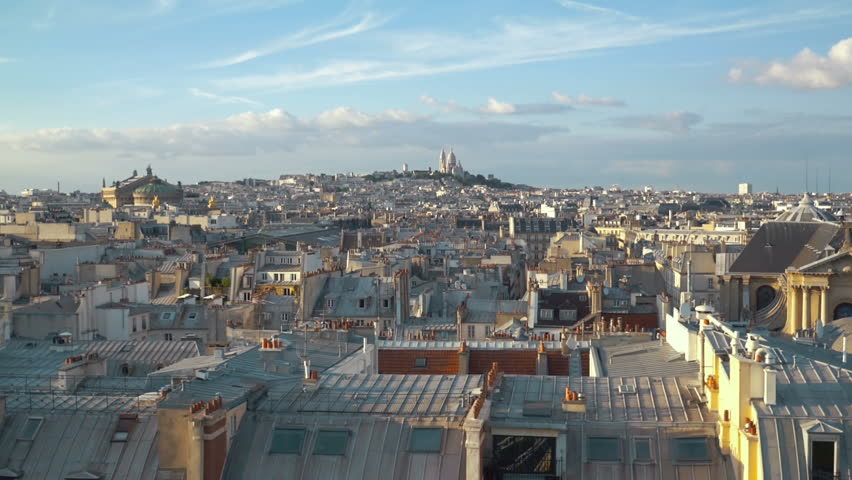 Aerial view on Sacre Coeur in Paris in slow motion 120fps | Shutterstock HD Video #1012362527