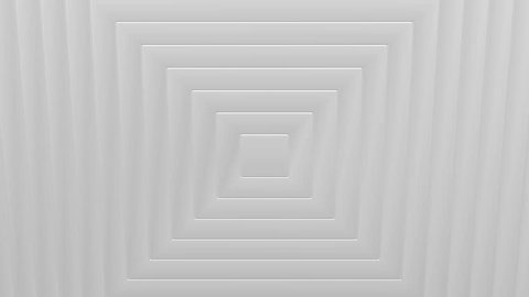 Abstarct background - White frames turn around. Loopable. Luma matte. 3D rendering.