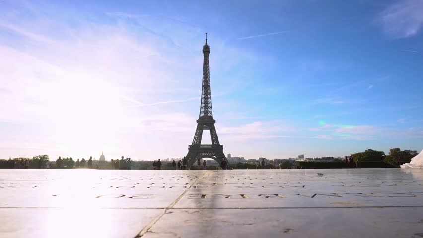 Eiffel Tower and Paris cityscape | Shutterstock HD Video #1012449137