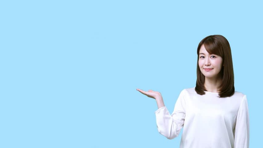 Guiding young asian woman.  | Shutterstock HD Video #1012484867